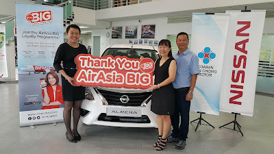 AIRASIA BIG LOYALTY GIVES AWAY A BRAND-NEW NISSAN ALMERA TO A LUCKY WINNER!
