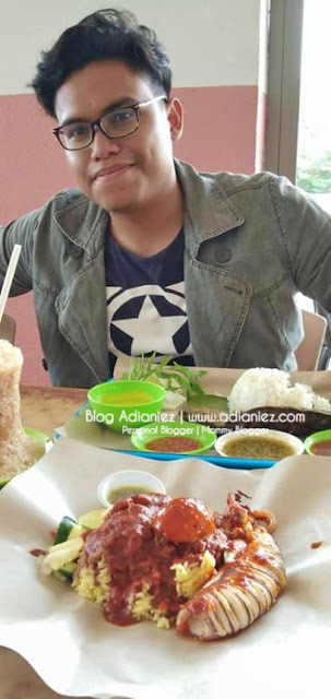 Restoran Nasi Dulang Daun Pisang, Sg Ramal Dalam | Nasi Ganja Sotong Bakar Yg Ohsem !