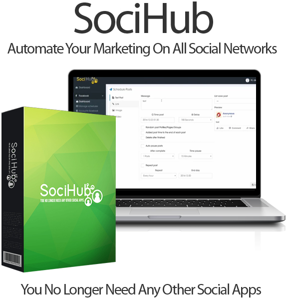 Soci Hub [Help You Manage All Social Accounts in One Software]