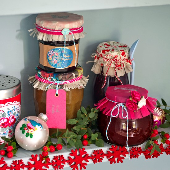 Jarred Christmas Gifts: The Art Of Up-Cycling: Homemade Christmas Gift Ideas
