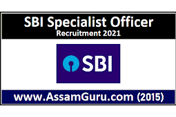 SBI Specialist Officer Recruitment 2021 | 82 Specialist Cadre Officer Posts