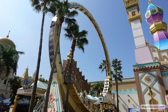 新竹關西鎮 六福村主題樂園之阿拉伯皇宮-刺激度較小的遊樂區。