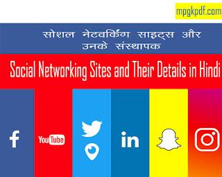 Social networking Sites aur unke Sansthapak