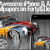 Most Awesome iPhone & Android Wallpapers on Forty&Deuce #infographic