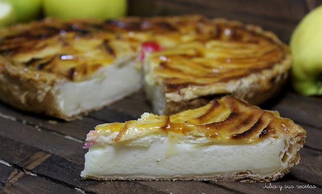 Tarta de manzana con leche condensada. Julia y sus recetas