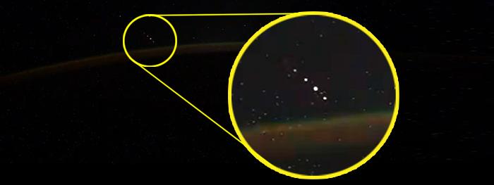luzes misteriosas estação espacial internacional
