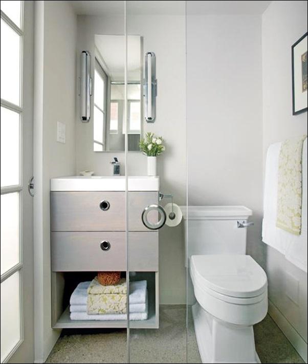banheiro pequeno aconchegante