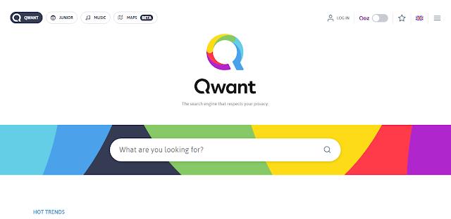 Situs mirip Google yaitu situs Qwant