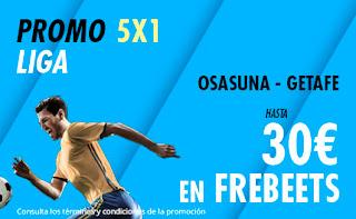 Suertia promo liga Osasuna vs Getafe 5-7-2020