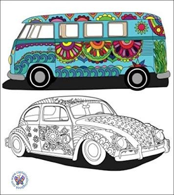 Hippy Van Coloring Book