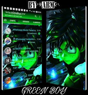 Green Boy Theme For YOWhatsApp & Fouad WhatsApp By ALBERTO