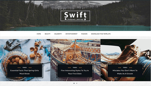 Swift - Clean Blogger Template - Clean Blogging