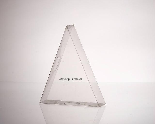 Hộp nhựa hình tam giác bằng nhựa PVC PET trong suốt