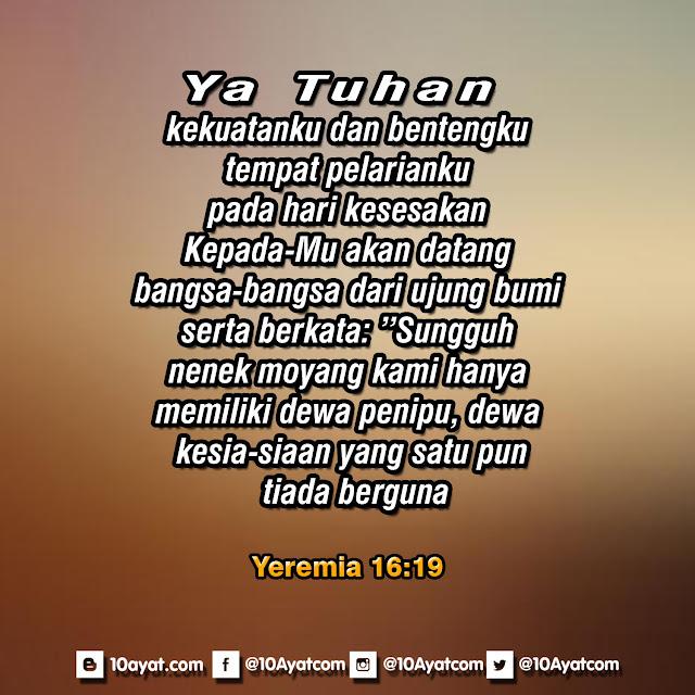 Yeremia 16:19