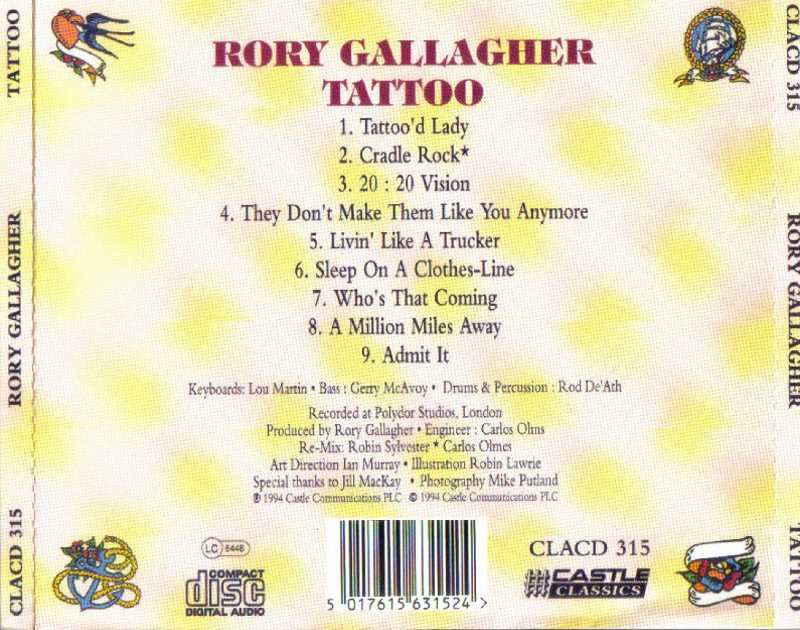Rory Gallagher – Tattoo (Remastered) (1973/2020) [Official ..