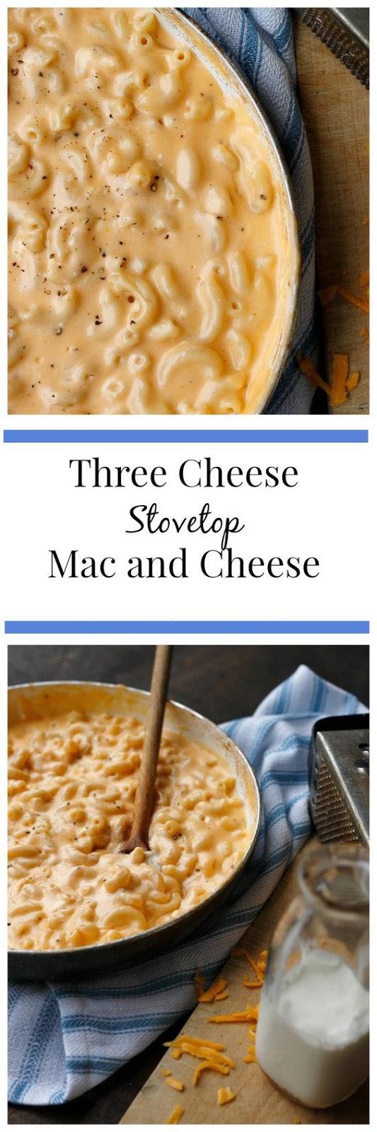 Three Cheese Stovetop Mac And Cheese