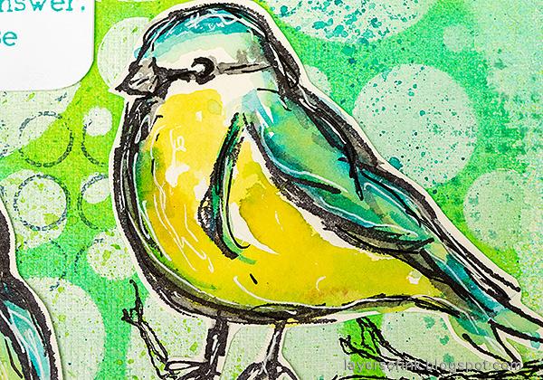 Layers of ink - Mixed Media Bird Art Journal Tutorial by Anna-Karin Evaldsson.