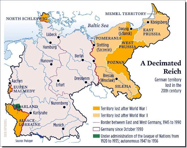 Territories lost Germany post WW2 map