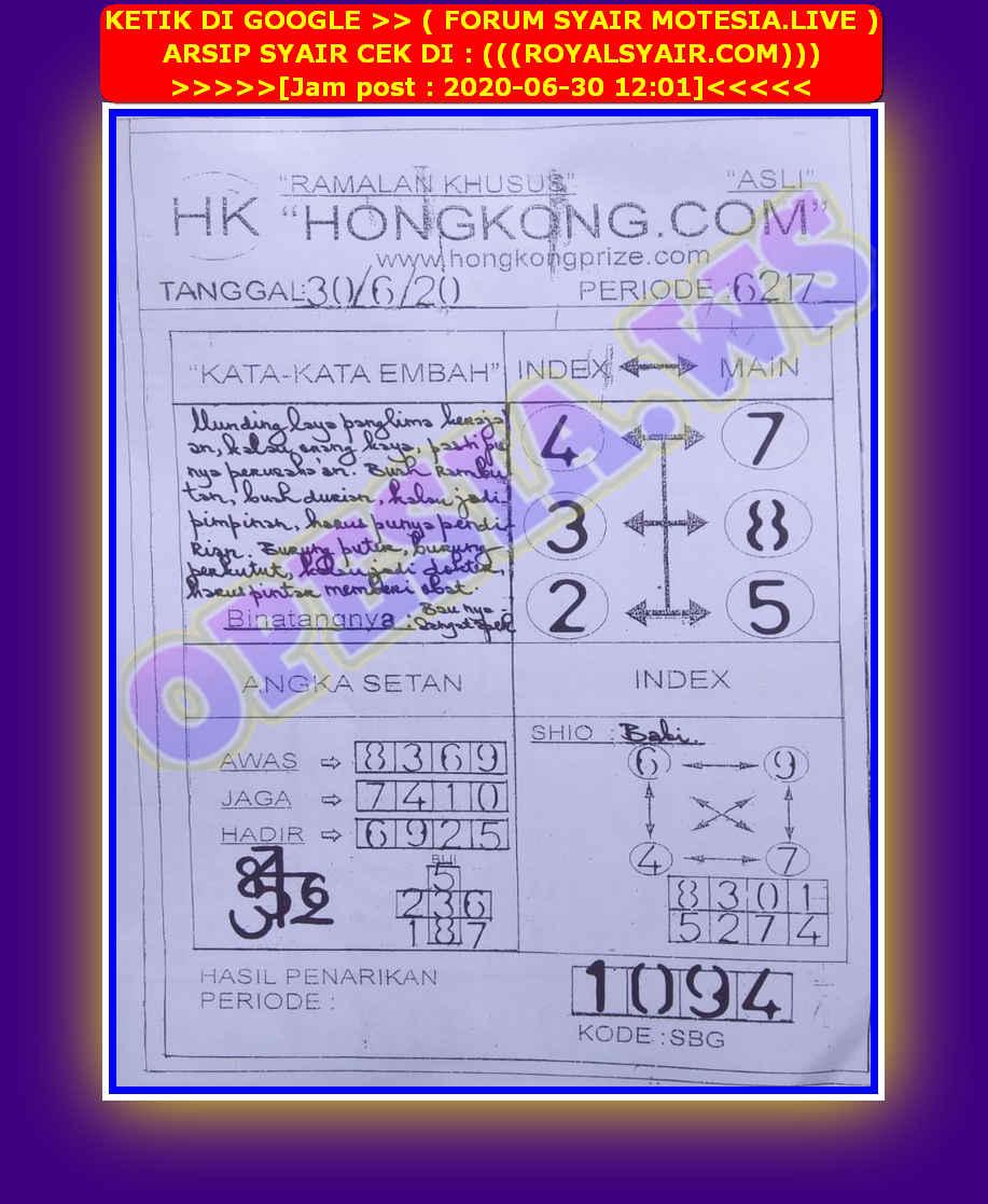 Kode syair Hongkong Selasa 30 Juni 2020 69