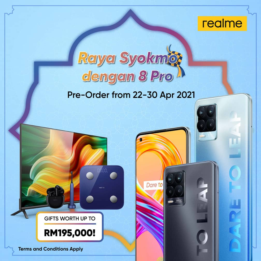 realme 8 Pro, 108MP Ultra Quad camera, realme Malaysia, Rawlins Tech, Rawlins Lifestyle, Rawlins GLAM, Raya Syokmo dengan 8 Pro