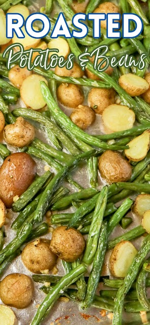 photo with text for pinterest of roasted vegetables