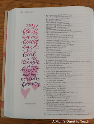 """quote from Bible: """"My flesh and my heart fail..."""""""