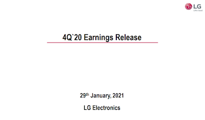 LG เผยผลประกอบการประจำปี 2563 ทำสถิติยอดขายและกำไรจากการดำเนินงานประจำไตรมาสที่สี่สูงสุดในประวัติศาสตร์ พร้อมสร้างความสำเร็จครั้งใหม่ด้วยผลกำไรที่เติบโตอย่างแข็งแกร่งในปี 2563