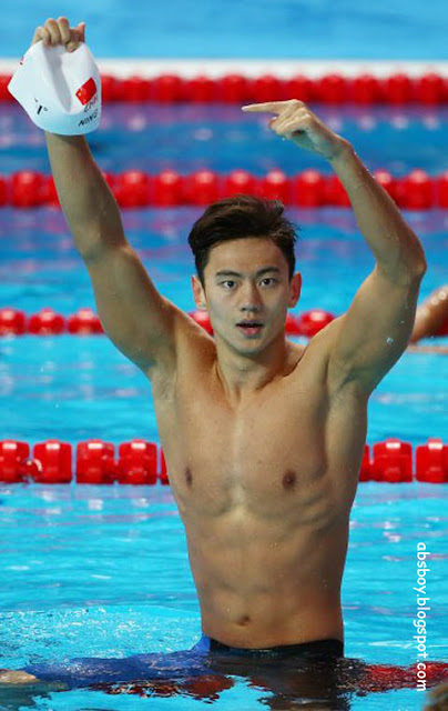 shirtless athlete on rio 2016