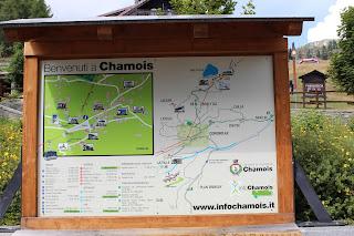 Chamois, percorsi