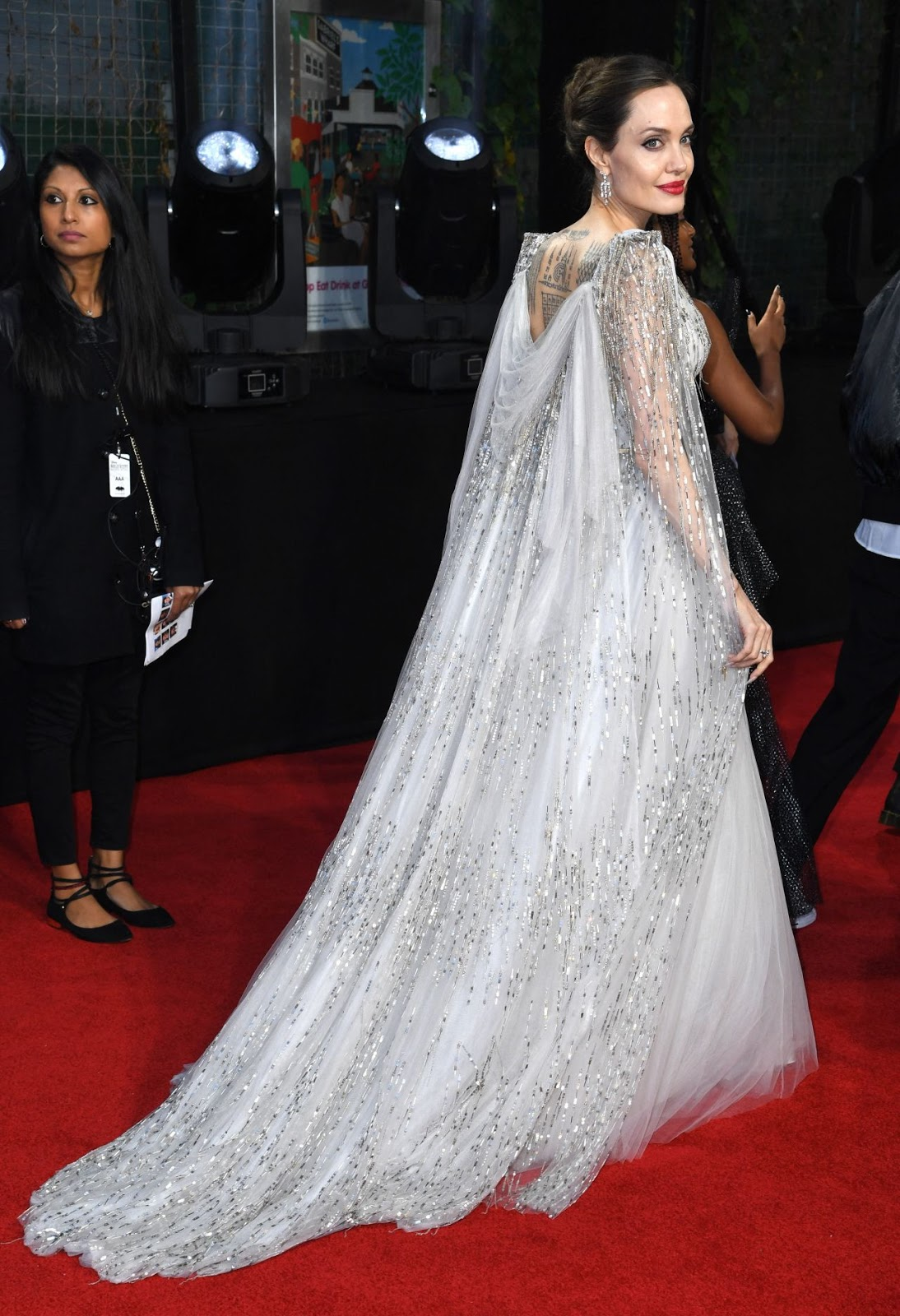"""Angelina Jolie – """"Maleficent: Mistress of Evil"""" Premiere at Imax Waterloo in London"""