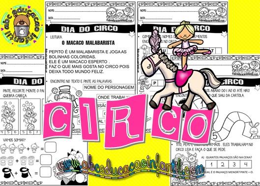 Atividades sobre o Dia do Circo para imprimir