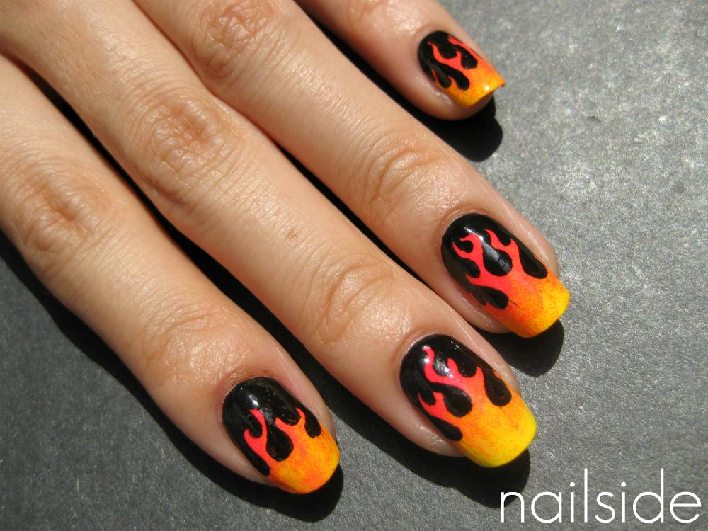 Nail Art Design: Flame job