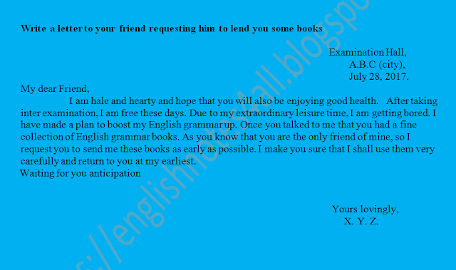 letter for 1st year english