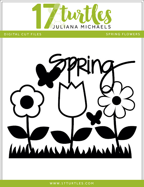 Spring Flowers Free Digital Cut File by Juliana Michaels 17turtles.com