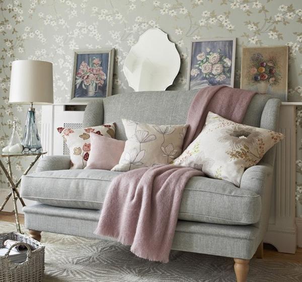 Wallpaper tema alam sentuhan warna putih