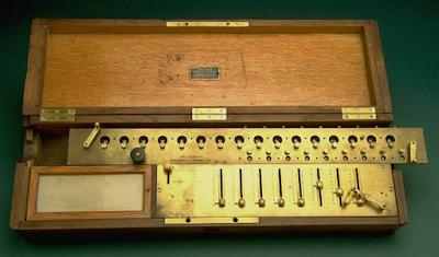 Kalkulator Mekanis yang Diproduksi Massal (Arithmometer)