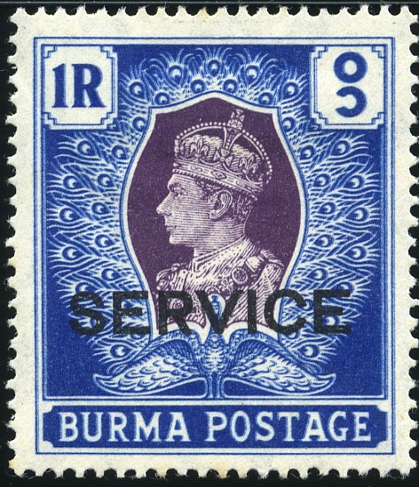 King George Vi Postage Stamps Burma 1939 Service Officials O15 O27 M
