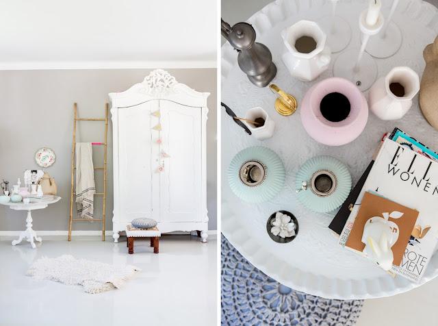 dormitorio con armario antiguo