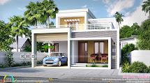 2129 Square Feet 3 Bedroom Flat Roof Box Model Home