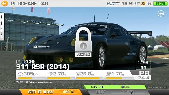 Real Racing 3 Car Sales Porsche 911 Rsr 2014