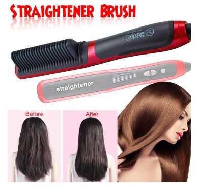 Electric Hair Straightener Comb Ceramic Brush