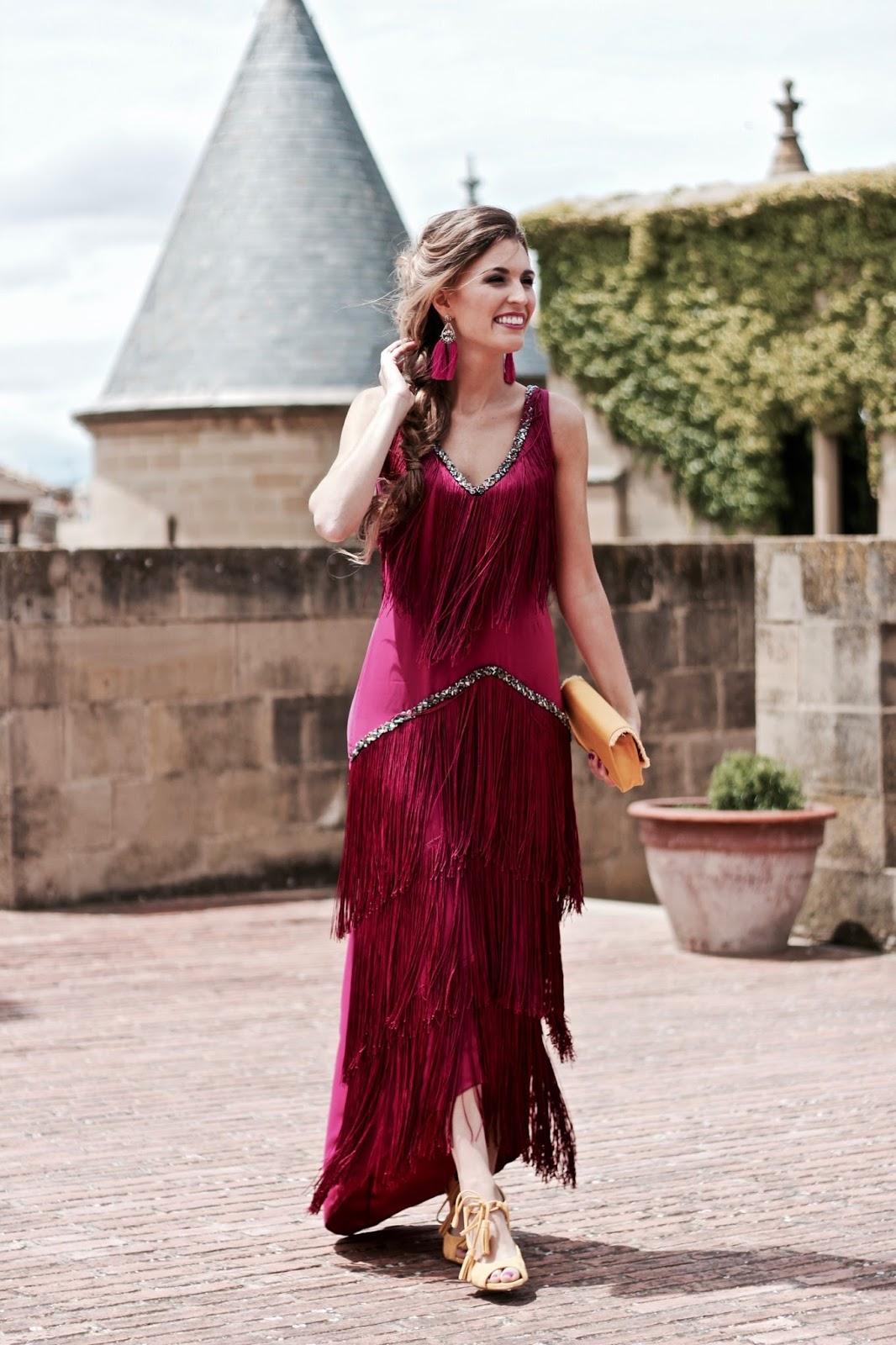 vestido invitada buganvilla