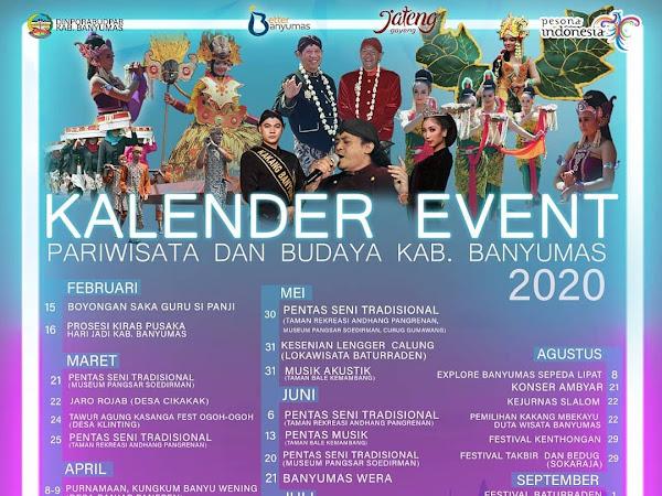 Kalender Event & Jadwal Acara Hari Jadi Ke-449 Kabupaten Banyumas 2020