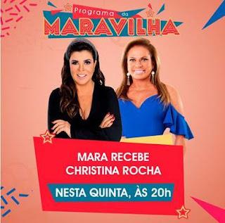 A apresentadora Mara e a convidada Christina Rocha (Divulgação/SBT)