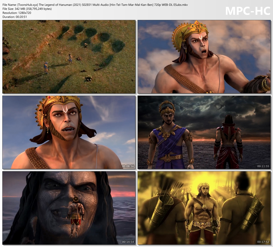 The Legend of Hanuman Season 2 Episodes Hindi-Tamil-Telugu-Bengali Multi Audio Download 720p HD