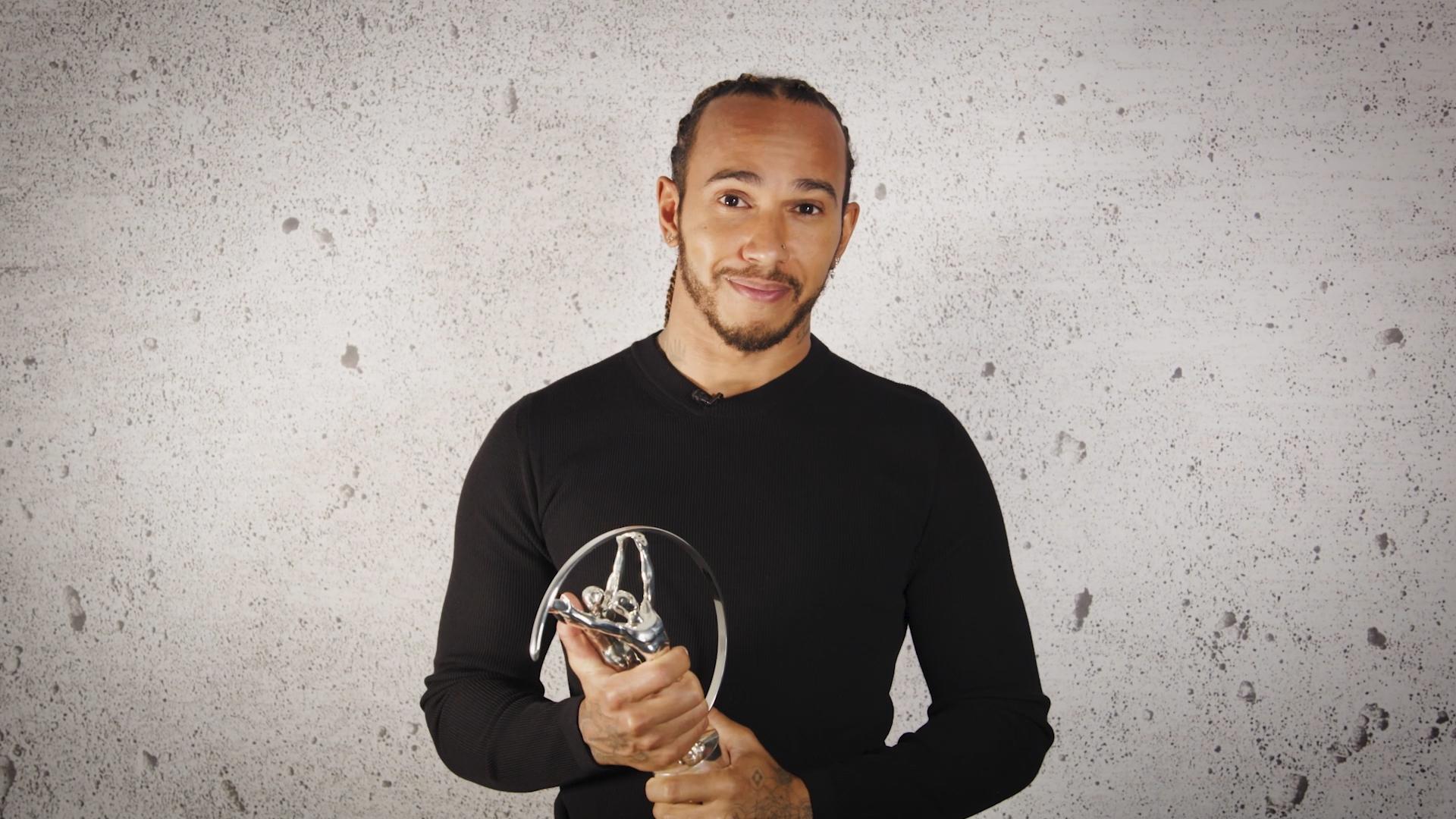 Seven-time Formula One World Champion Lewis Hamilton wins award at virtual Laureus Awards ceremony
