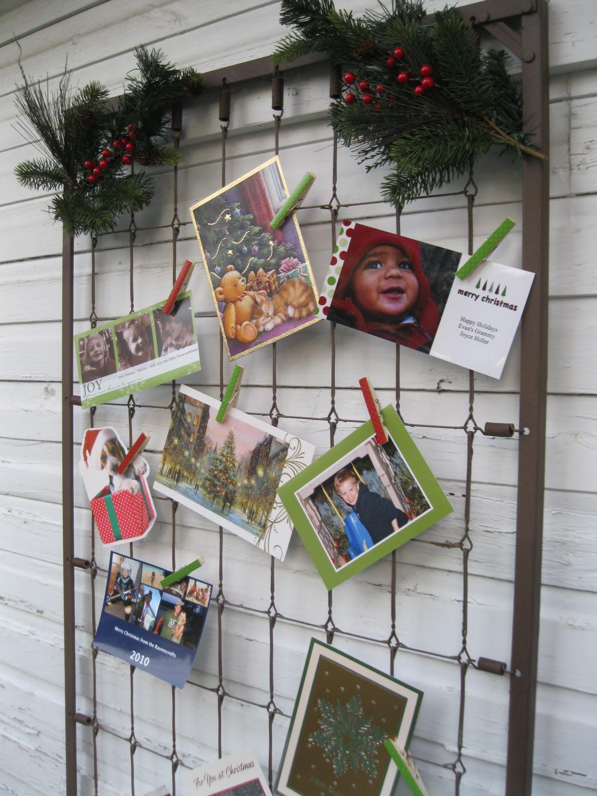 10 christmas card display ideas through the eyes of the mrs - Christmas card display ideas ...