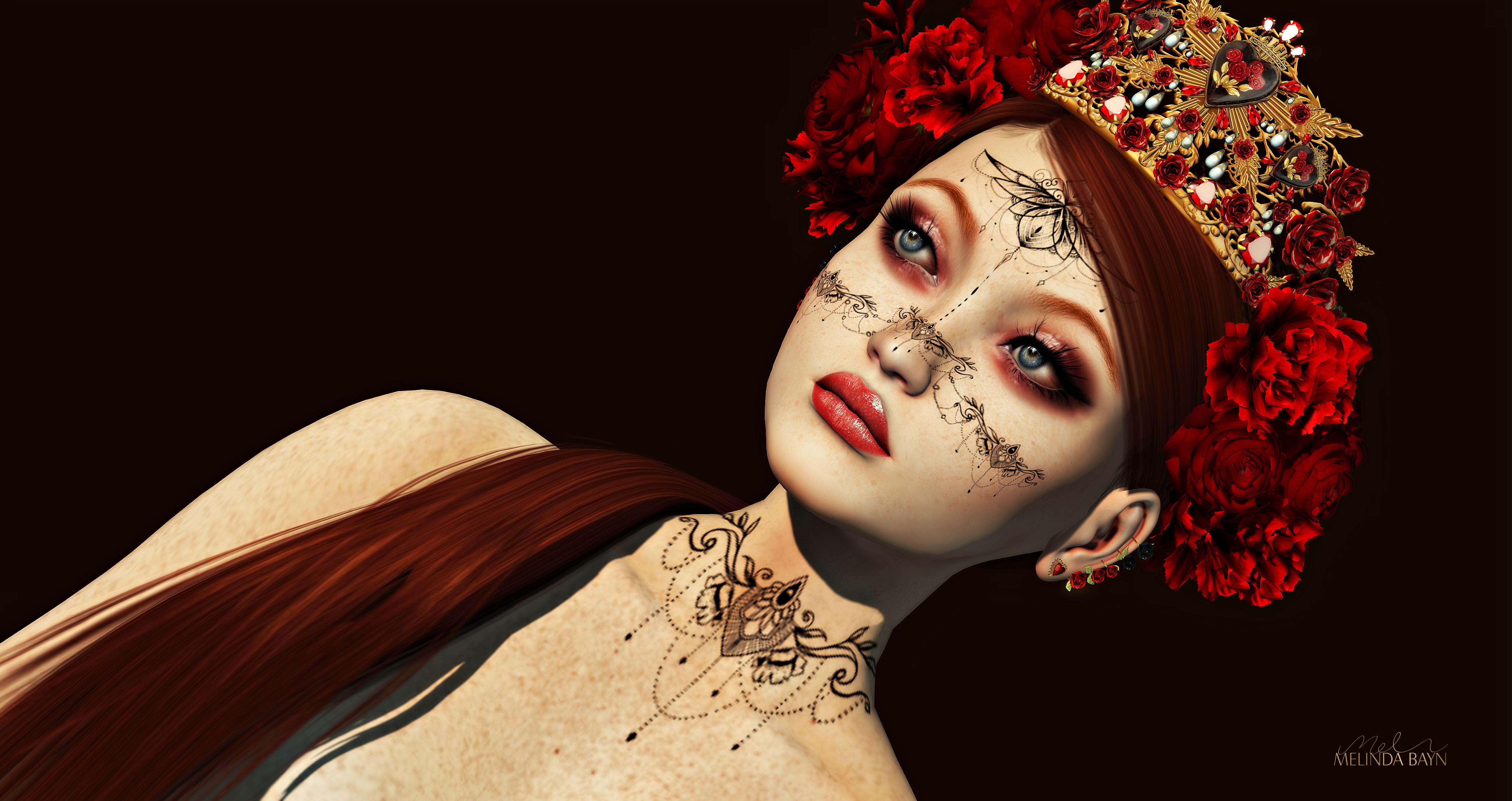 Melinda Bayn 711/2020 ANDORE Mesh Ears ROZY – Impulse Elela Tattoo Bom – GO Hued HD Lipstick Makeup