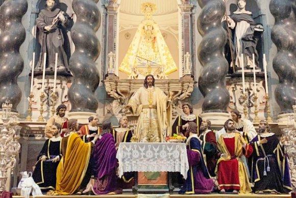 El sublime altar de la Sagrada Cena de Cádiz con motivo del Corpus Christi