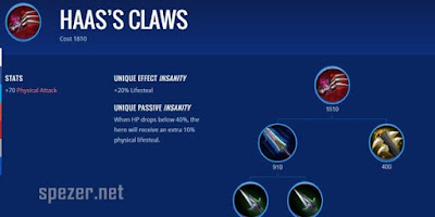 Haas's Claws - Item Game Mobile Legends